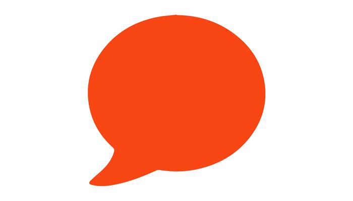 orange text bubble