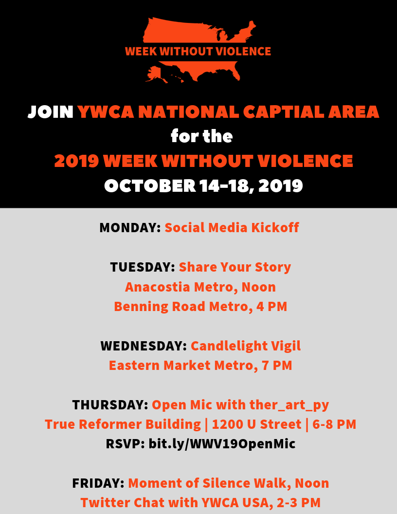 Week Without Violence: Open Mic @ True Reformer Building