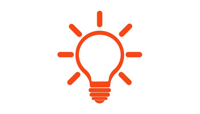 orange lightbulb