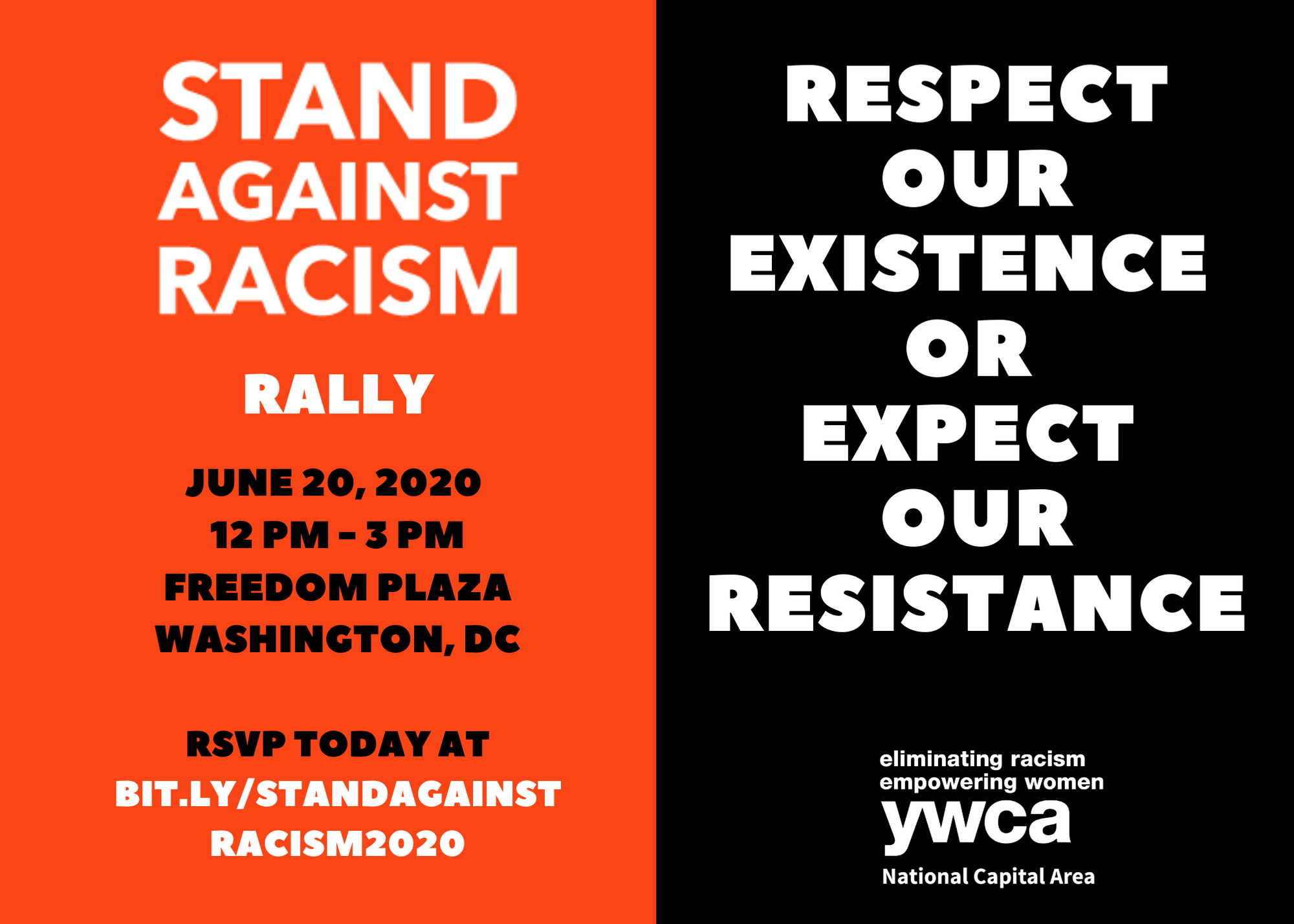Stand Against Racism Rally: Respect our Existence or Expect our Resistance. @ Freedom Plaza